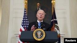 Tổng thống Hoa Kỳ Joe Biden phát biểu tại Nhà Trắng ngày 2/3/2021.