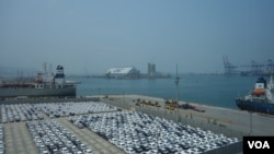 台北港 (美國之音張佩芝 拍攝)