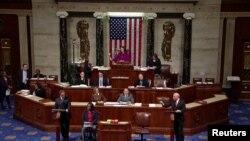 صدر ٹرمپ امریکی تاریخ کے تیسرے صدر بن گئے ہیںجن کے مواخذے کی کارروائی جاری ہے۔ (فائل فوٹو)