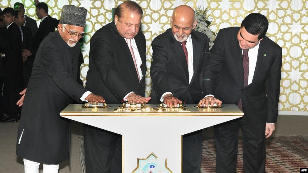 کار عملی احداث خط لوله پروژه تاپی در دسمبر سال گذشته توسط رهبران ترکمنستان، افغانستان، پاکستان و هند افتتاح شد.