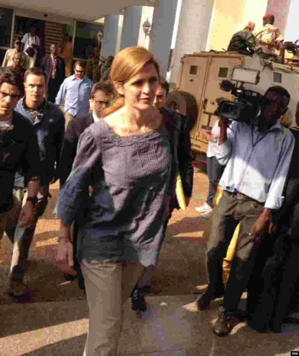 L'ambassadeur américain aux Nations unies, Samantha Power. Photo prise par Idriss Fall.