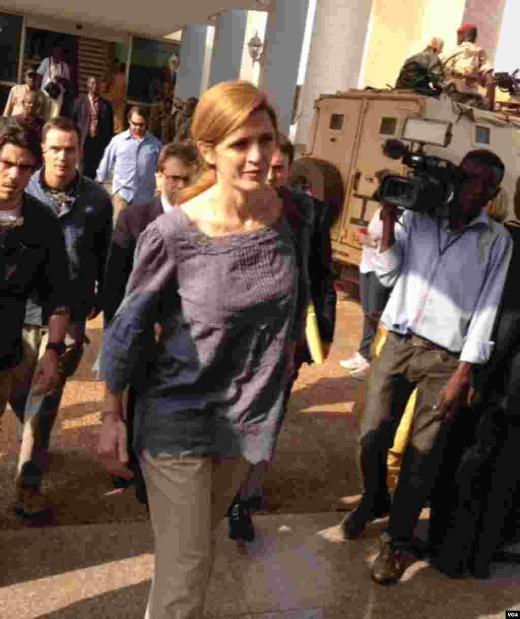 L'ambassadeur américain aux Nations unies, Samantha Power. Photo prise par Idriss Fall.