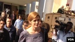 La représentante permanente des Etats-Unis auprès de l'Onu, Samantha Power. Photo prise par Idriss Fall.