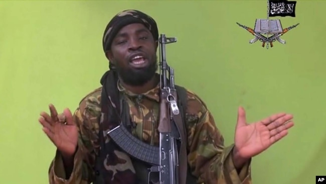 FILE - Boko Haram leader Abubakar Shekau is seen in an image from video released by the militant group May 12, 2014. Boko Haram is the most deadly jihadist group on the African continent, followed by al-Shabab and the Islamic State.