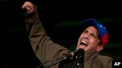 El líder opositor venezolano Henrique Capriles no pudo viajar a la ONU después que las autoridades de su país le anularan el pasaporte el jueves, 18 de mayo de 2017.