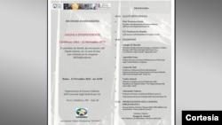 Programa do primeiro encontro de reflexão em alusão à comemoração do 43˚ aniversário da independência de Angola