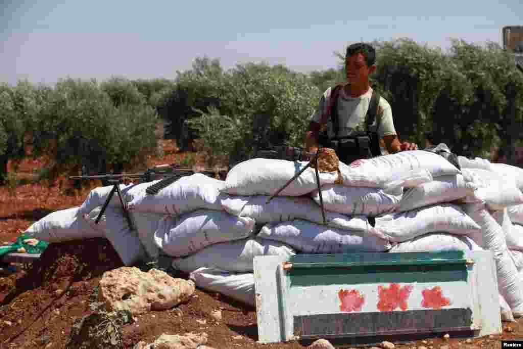 Kurdlar yashaydigan Afrin shahrida