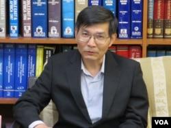 台湾外交部亚东关系协会副秘书长苏启诚(美国之音张永泰拍摄)