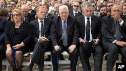 Perezida Mahmoud Abbas wa Palestina mu bategetsi baherekeje Shimon Peres