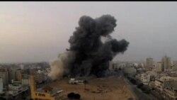 2012-11-19 美國之音視頻新聞: 以色列連續第六天空襲加沙地帶