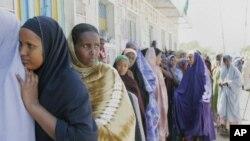 Wanawake huko Hargeisa Somaliland wakiwa kwenye foleni ya kupiga kura.