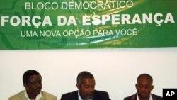 Membros da direcção do Bloco Democrático em Cabinda
