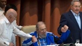 Fidel Castro participó en el cierre del Congreso.