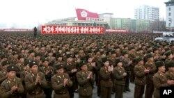 지난 2월 북한 평양 김일성광장에서 3차 핵실험을 자축하는 대규모 집회가 열렸다.