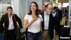 La diputada María Corina Machado,