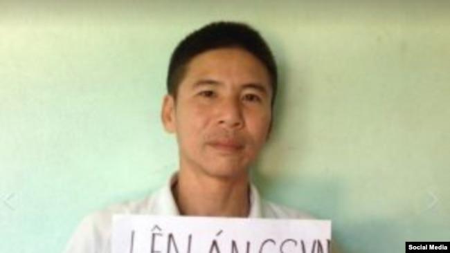 Nhà hoạt động Nguyễn Trung Trực trước khi bị bắt (Facebook AEDC)