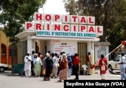 L'hôpital Principal de Dakar, seule structure sanitaire du Sénégal pouvant prendre en charge les grands brûlés au Sénégal, le 24 avril 2017. (VOA/Seydina Aba Gueye)