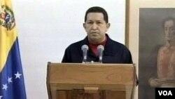 Presiden Hugo Chavez memberikan pidato kepada rakyat Venezuela dari Havana, Kuba (30/6).
