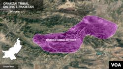 Peta distrik Orakzai, Pakistan. (Foto: dok).