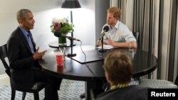 Принц Гарри и Барак Обама