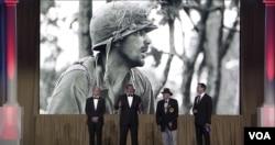 Hình ảnh tại lễ vinh danh Rick Rescorla. (Hình: Trích xuất từ video American Veterans Center)