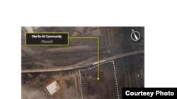 Satellite image taken after the demolition of Oke Ilu-Eri, Badia East, Lagos, Nigeria, April 8, 2013. (DigitalGlobe)