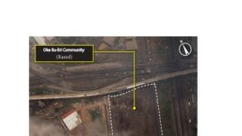Satellite image taken after the demolition of Oke Ilu-Eri, Badia East, Lagos, Nigeria, April 8, 2013. (DigitalGlobe)