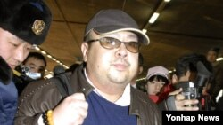 FILE - Kim Jong Nam, the eldest son of North Korean leader Kim Jong Il, pictured at the Beijing International Airport, China, Februray 2007.