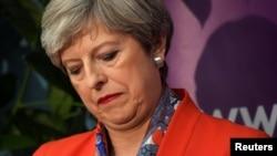 မဲရလဒ္ကို ေစာင့္ဆိုင္းေနတဲ့ ဝန္ႀကီးခ်ဳပ္ Theresa May (ဇြန္ ၉-၂၀၁၇)