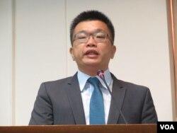 台灣在野黨民進黨立委蔡其昌。(美國之音張永泰攝)