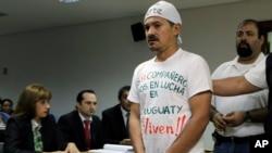 Imagen de archivo de Ruben Villalba, ex líder campesino, quien hizo una huelga de hambre para protestar la actuación del gobierno en los enfrentamientos en Curuguaty.