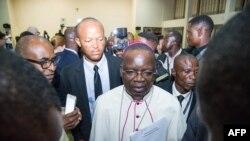Mgr Marcel Utembi, mokambi ya CENCO (Conf♪0rence épiscopale nationale du Congo) na Kinshasa, RDC, 30 décembre 2016.
