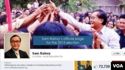 Khmer Interview: Sam Rainsy Optimistic About Facebook