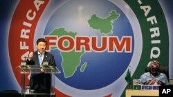 시진핑 중국 국가주석이 지난 2015년 남아프리카 요하네스버그에서 열린 '중국-아프리카 협력포럼 정상회의' 개막식에서 연설하고 있다.