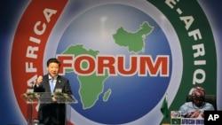 Xi Jinping na abertura do Fórum.