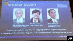 Isamu Akasaki,Isamu Amano y Shuji Nakamura recibirán ocho millones de coronas suecas.
