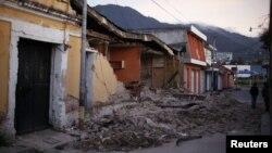 گوئٹے مالا میں زلزلے سے تباہی