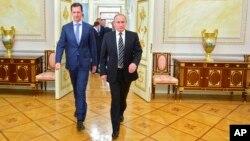 Башар Асад и Владимир Путин. Москва, 20 октября 2015.