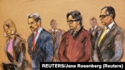 Kit Ranijer, druga osoba sa desne strane, tokom suđenja u društvu svojih pravnih zastupnika (Foto: REUTERS/Jane Rosenberg)