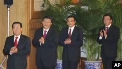 习近平(左起第二人)和李克强(左起第三人)都曾是下乡知青