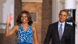 U.S. First Lady Michelle Obama Urges Men to Support Women