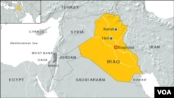 Map of Tikrit, Iraq