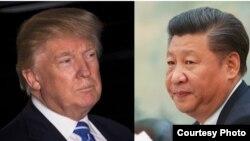 Tổng thống đắc cử Hoa Kỳ Donald Trump (bên trái) và Chủ tịch Trung Quốc Tập Cận Bình