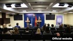 Ministar poljoprivrede Crne Gore Petar Ivanović na konferenciji za novinare u Vladi Crne Gore (gov.me)