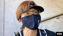 """香港市民何小姐表示,不知道今年是否最後一次毋忘六四長跑,今年首次參加希望""""做得一次得一次"""",不希望香港好像中國大陸一樣,忘記六四事件 (美國之音湯惠芸)"""