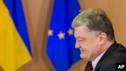 Petro Poroshenko. président de l'Ukraine.(Stephanie Lecocq, Pool Photo via AP)