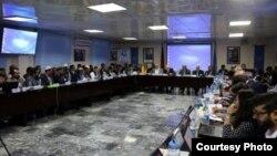 تصویری وزارت صحت عامه افغانستان از جریان جلسۀ مشترک مسوولان در کابل در مورد مبارزه مشترک با پولیو