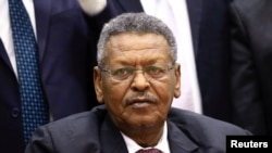 Sudanese Prime Minister Hassan Saleh is pictured in Khartoum, March 2, 2017.