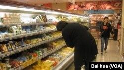 莫斯科一家超市 (美国之音白桦拍摄)