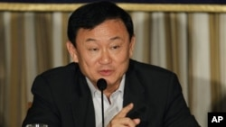Thailand's former prime minister Thaksin Shinawatra (file photo)